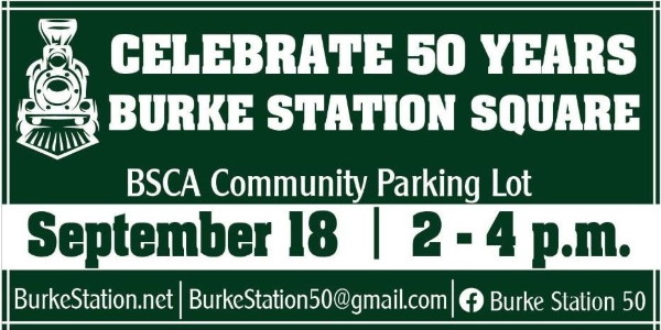 Burke Station Square 50th Anniversary Flyer