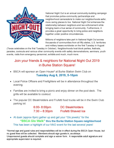 National Night Out 2019 Activities